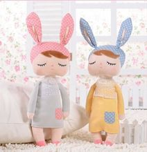 2pieces Unique Gifts high quality Sweet Cute Angela rabbit doll Metoo baby plush doll for kids panda butterfly bee poupee dolls