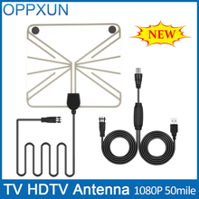 TV Antenna Outdoor TV Antenna  HDTV Antenna Amplifier 50 Mile Range F Male with High Signal Amplifier Transparent