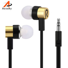 A Ausuky Universal 3.5mm Earphones in Ear Style Super Bass Stereo Earphones with Mic 5 Color for choose -29