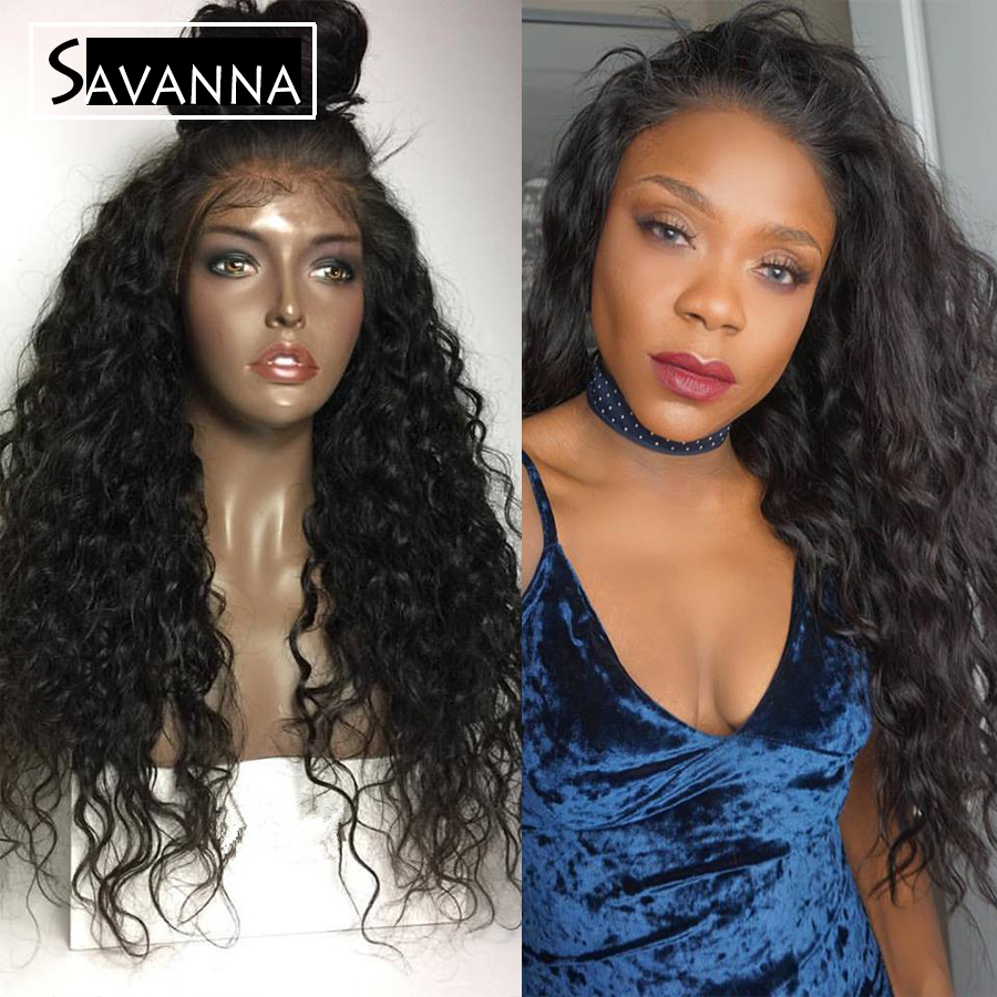 Human Hair Wig 150 Density Deep Curly Glueless Full Lace Wigs Brazilian Bouncy Curly Lace Front Human Hair Wigs For Black Women<br><br>Aliexpress