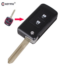 KEYYOU Modified Folding Flip Remote car Key Shell 2 Buttons Keyless Entry Case For For Subaru Outback Legacy
