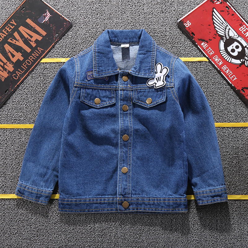 19 Mickey Denim Jacket For Boys Fashion Coats Children Clothing Autumn Baby Girls Clothes Outerwear Cartoon Jean Jackets Coat 13