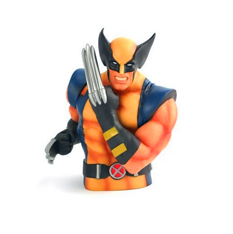 Brinquedo Super Heroes Wolverine X-Men Piggy Bank Coin Money Bank PVC Action Figure Collectible Model Toy 20CM E91<br><br>Aliexpress