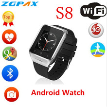 ZGPAX S8 смартфон Bluetooth Smart Часы Android 4,4 MTK6572 двухъядерный gps 2.0MP Камера WCDMA Wi-Fi MP3 MP4 Smartwatch PK Q18 U8(China)