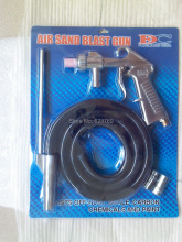Air Sandblasting Gun Kit Air Sand Blaster Pneumatic Tool Free Ship