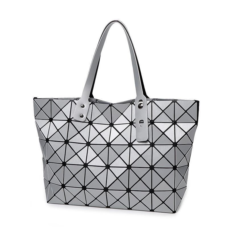 Luxury Women baobao Handbags High Quality Brand laser Bao Bao Bag Issey Miyak Geometry Folding Package Fashion Tote Bag<br><br>Aliexpress