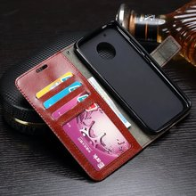 50pcs/lot Crazy Horse Wallet Leather Case For Motorola Moto G5 G4 Plus For Moto G4 Play Droid Turbo 2 For MOTO X Force Z Driod