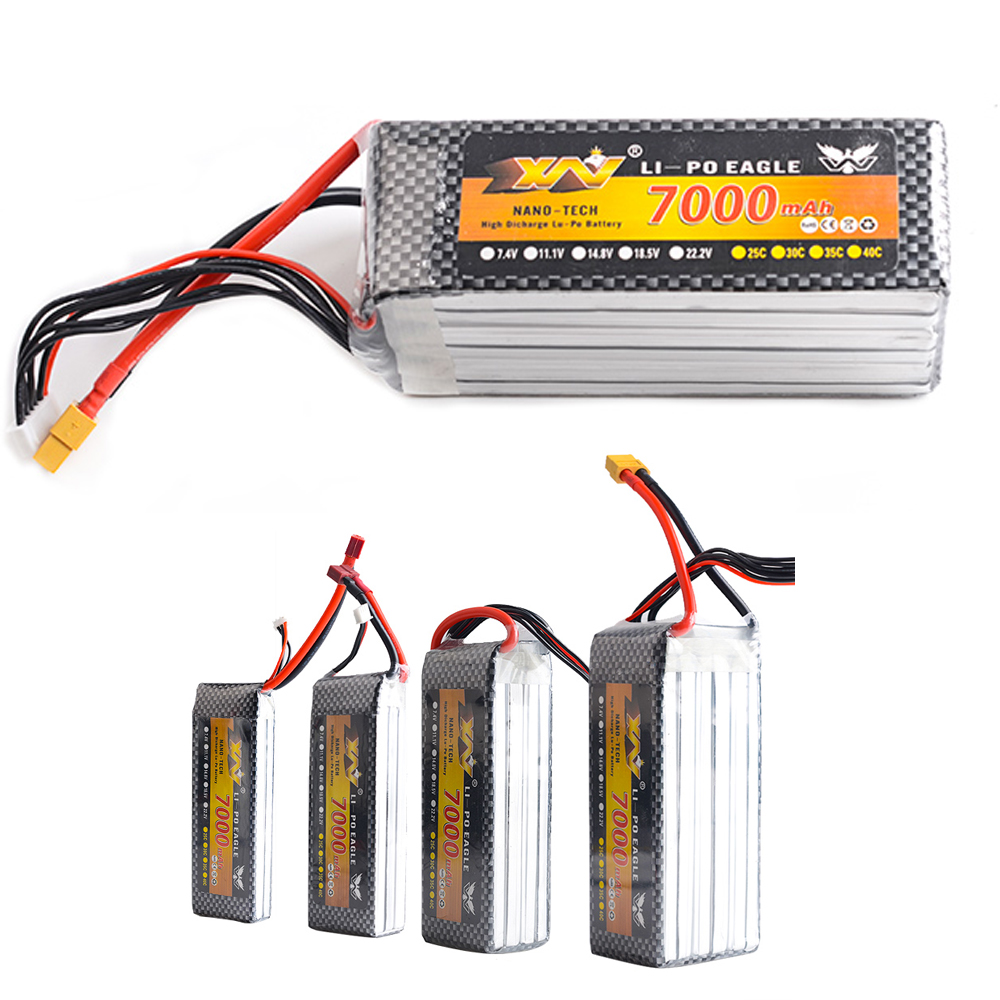 1pcs YW Lipo Battery 7.4V/11.1V/14.8V/22.2V 7000MAH 25C XT60 Plug For RC Boat Car Quadcopter Drone Helicopter Airplane Toy Parts<br>