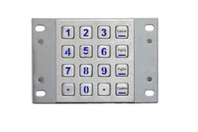 Rugged Stainless Steel USB Keypad with Backlight, IP65 Waterproof Backlit Panel Mount metal keyboard with 4X4 Matrix Keys(China)