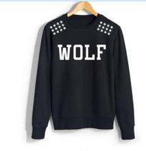 2016 Autumn Kpop Exo Wolf 88 Star Print XOXO Sweatshirt HIPHOP pullover hip hop hoodie Women/men long-sleeve thin hoodie
