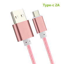 Nylon USB Type c Cable charger 2A Fast charging line 25 cm 0.25M Short Type-c for xiaomi mi5 mi4 Meizu pro 6 mx5 nexus 5x