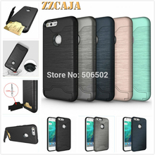 ZZCAJA For Google Pixel XL Case New Design Shockproof KickStand Card Slot Back Phone Covers For Google Pixel Cell Phone Skin(China)