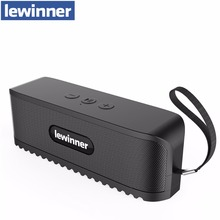 lewinner Portable Bluetooth Speaker and Built-in Microphone Stereo Rock Sound Outdoor Wireless Bluetooth Speaker Support TF card(China)