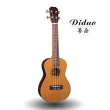 Top Solid Concert Ukulele 23 Inch Mini Guitar 4 Strings Korean Pine Rose Wood Ukelele Guitarra Handcraft Uke High Quality(China)