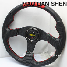 2015 new carbon fiber modified MOMO steering wheel / 350MM PVC racing wheel / Universal steering wheel of high-quality