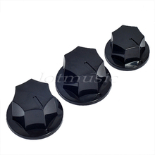 3*Guitar Knob Standard 6mm Pots Plastic For fender Jazz Bass knobs replacement