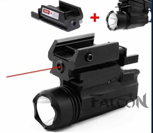 2in1 Tactical LED Flashlight/LIGHT +Red Laser/Sight Combo for gun Glock 17 19 22 20 23 31 37