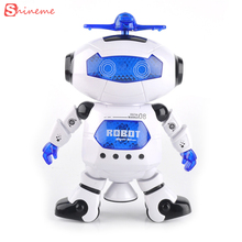 wonderful high quality Smart Space Dance Robot Electronic Walking Toys With Music Light Gift For Kids Astronaut play to Child(China)