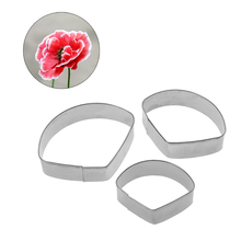 3Pcs/Set Poppy Flower Petal Mold Fondant Cake Decorating Tool Christmas Cupcake Biscuit Cookie Cutter Baking Sugar Paste Mould