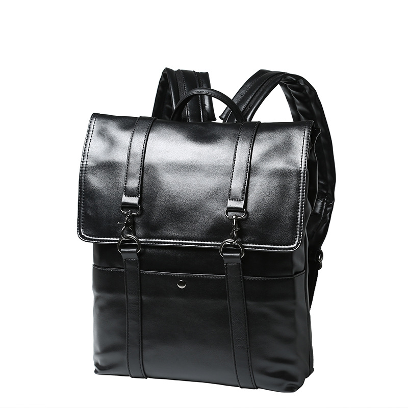 COCO&amp;YOYO Brand!Men PU Leather Laptop Backpacks Fashion School Bag For Teenagers Vintage Black Escolar Soild Mochila  Hombre<br><br>Aliexpress