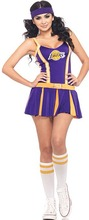 Purple Sexy High School Cheerleader Costume Women sportswear aerobics dance Cheerleading Uniform