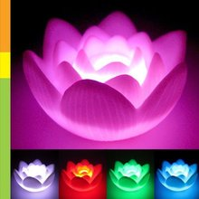 MYLB Color Changing LED Lotus Flower Romantic Love Mood Lamp Night Light Wedding Favor Decoration(China)