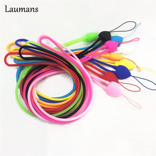 Laumans 10pcs Phone Lanyard for Samsung Galaxy J5 J7 S6edge Soft Silicone Mobile Phone Straps for USB Key Cord Phone Hand Rope