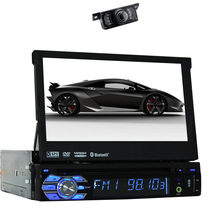 Single din 7''  car Radio Audio Stereo Receiver iPod SD MAP Music MP5 GPS Car DVD Player Autoradio Camera System 1 Din HeadUnit
