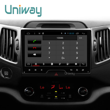 uniway 2G+16G android 6.0 car dvd for kia sportage 2009 2011 2013 2014 2015 car radio gps navigation with steering wheel