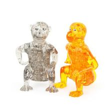 50pcs  DIY Funny Monkey 3D Crystal Puzzles animal assembled model birthday new year gift children play set toys for kids