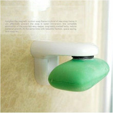 Hot Sale 1Pc Magnetic Soap Holder Prevent Rust Dispenser Adhesion Home Bath Wall Attachment #53567(China)