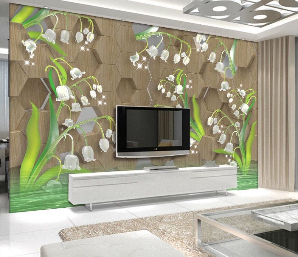 Photo 3D Mural Wallpaper tulip Painting Wallpaper For Kids Room high-precision creative coffee TV Backdrop Wallpaper Mural <br>