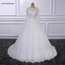 Buy Real Model Ball gown Wedding Dresses 2018 Lace Applique Bride Dress Plus Size Wedding Gowns Beaded Dress Vestido de Noiva Sereia for $183.20 in AliExpress store