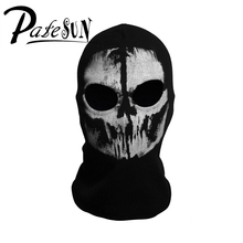 PATESUN Skull Balaclava Men Winter Hats Gothic Ghost Face cs go Mask Motorcycle Halloween Bicycling Caps bonnet
