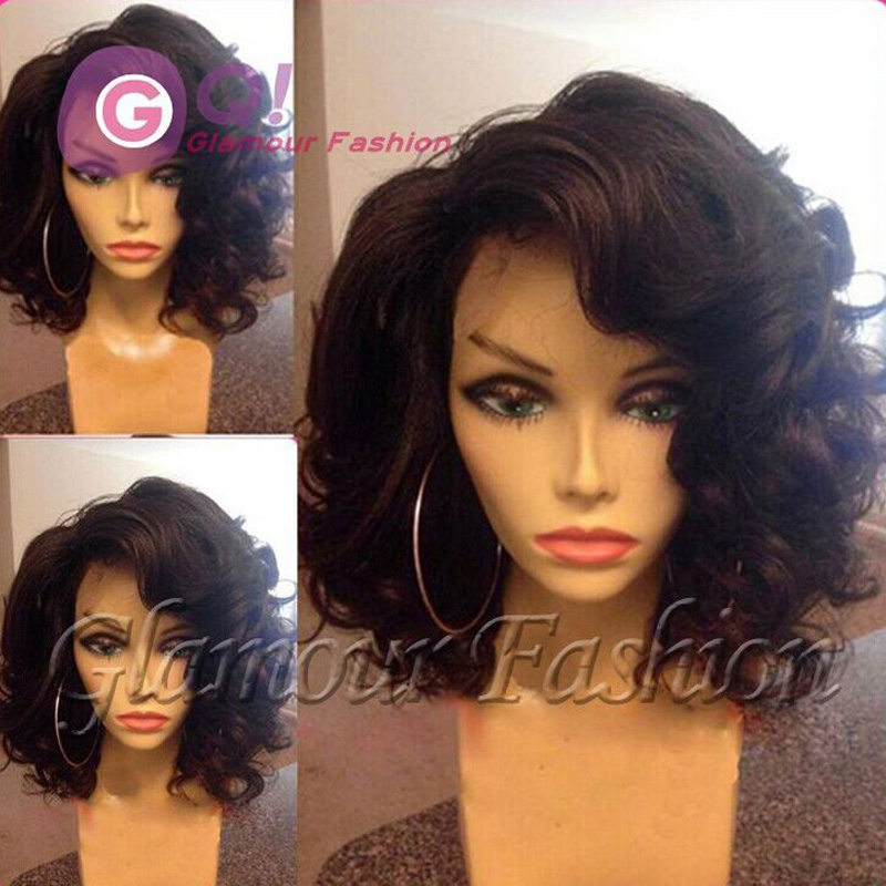 Brazilian virgin full lace human hair bob wig &amp; glueless lace front wig with baby hair bleached knots short wigs for black women<br><br>Aliexpress