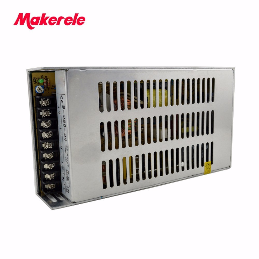 250W 27V 9A Single Output Switching power supply Low cost metal case for LED Strip light AC-DC S-250-27 with CE<br>