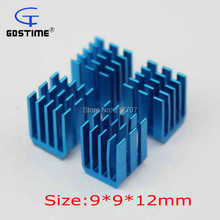 10PCS Gdstime Radiator Aluminum Heat sink 9x9x12MM Chipset RAM Heatsink Cooler(China)