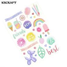 KSCRAFT Summer is coming Die Cut Self-adhesive Puffy Stickers for Scrapbooking Happy Planner/Card Making/Journaling Project(China)