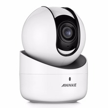 ANNKE 720P WiFi Pan/Tilt IP Network Security Camera IR Night Vision 2-Way Audio Motion Detected,Intelligent Alert,WDR,ROI,3D DNR(China)