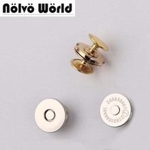 18*2mm powerful magnetic snap button with 2 caps clasp for bag purse craft magnetic snaps metal button clasp fastener()