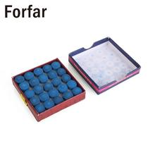 Forfar 50Pcs Glue-on Pool Snooker Supplies Replacement Billiards Snooker Cue Tips(China)