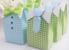 My Little Man Blue Green Bow Tie Birthday Boy Baby Shower Favor 400pcs=200pairs Candy box