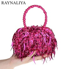 2017 Mini Bag New Diamond Flowers Women Clutch Bags Ladies Evening Bag For Party Day Clutches Dress Handbags SMYSFX-F0005