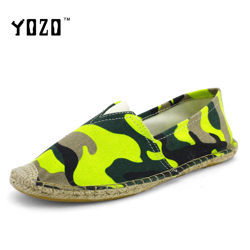 Canvas Shoes Unisex Hand Made Straw Braid Shoes Fashion Camouflage Espadrilles Breathable Flat Casual Shoes Men Size 5-9.5<br><br>Aliexpress
