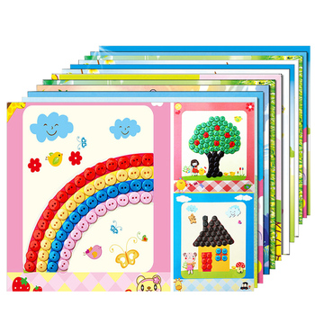 FREECOLOR 12pcs/lot Button Puzzle Stickers Handmade DIY