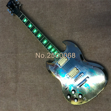 Custom guitar,Electroplate finish guitar,SG style electric guitar with light,China made guitars