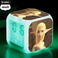 LED Alarm Clock Throne of Elves Snooze wekker Clocks Brand la casa mall Digital Clock reloj despertador Square reveil Watch(China)