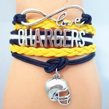 drop shipping hot sale Chargers football bangle fashion fan's love chargers football bangle jewelry