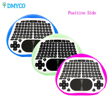 DMYCO T8 2.4G Mini Wireless Keyboard Air Fly Mouse Touchpad Super For Android TV Box Notebook Tablet PC(China)