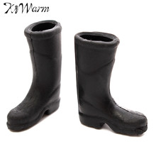 1 Pair Black Rain Boot Miniature Figurines 1/12 Scale Doll house Ornaments Home Decor for Decorative Crafts Gadget Kids Gift Toy